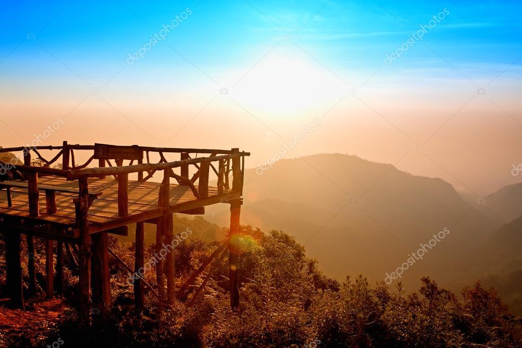 Mon Sone view point at Mount Ang Khang, Province Chang Mai, Thai