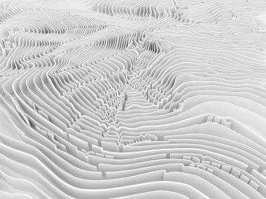 Volumetric topographic isolines background