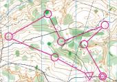 Topografické vektorová mapa