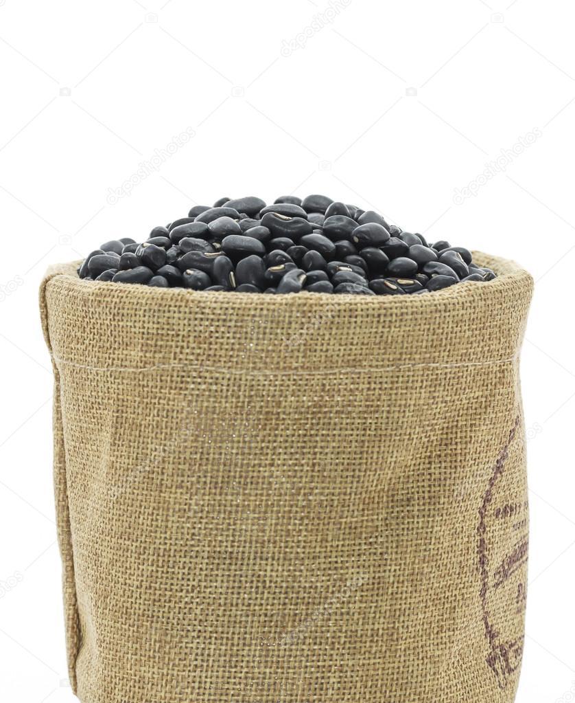 torkade svarta bönor