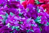 Fialový květ falešné ruční šití květiny