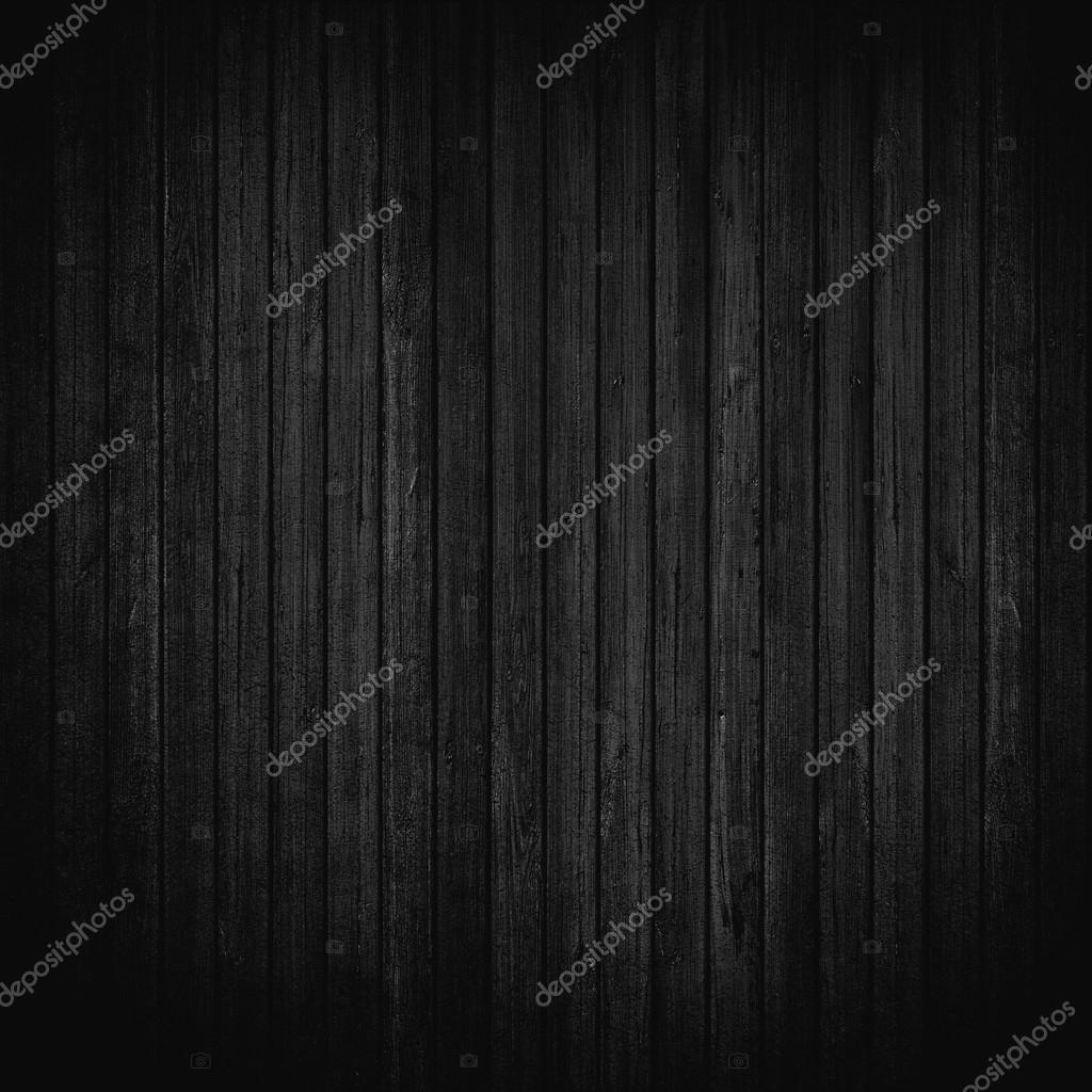 Black wood wall background