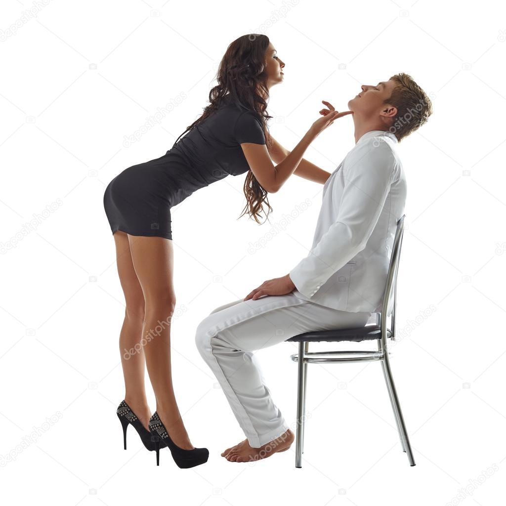 Man stripping woman