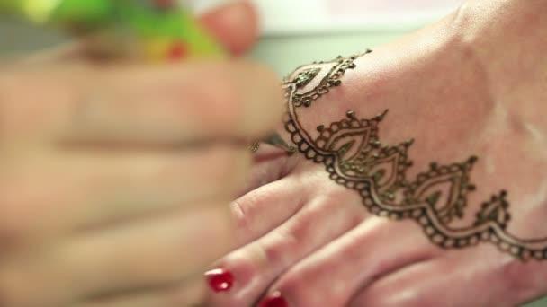 Nézet, a rajz henna minták, gyalog