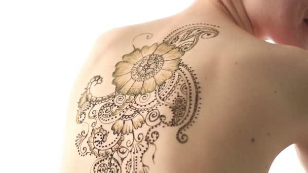 Mester rajz henna a test meztelen modell