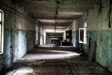 abandoned building near duga in Pripyat