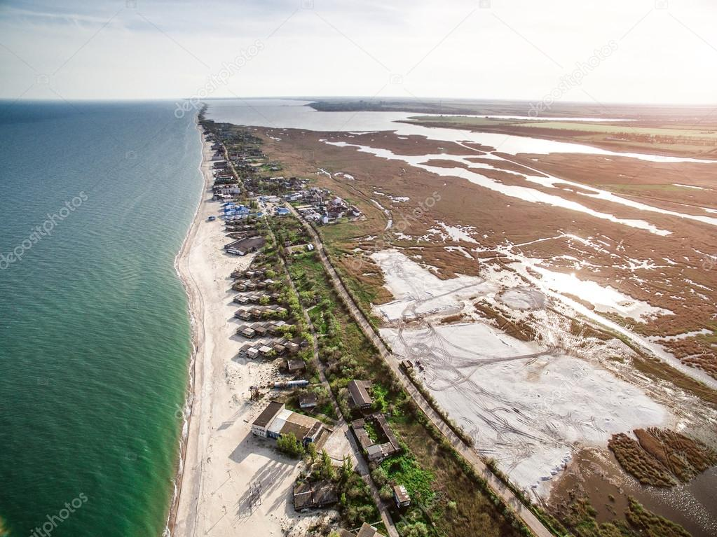beautiful view on the coastline of Bay in Odessa region