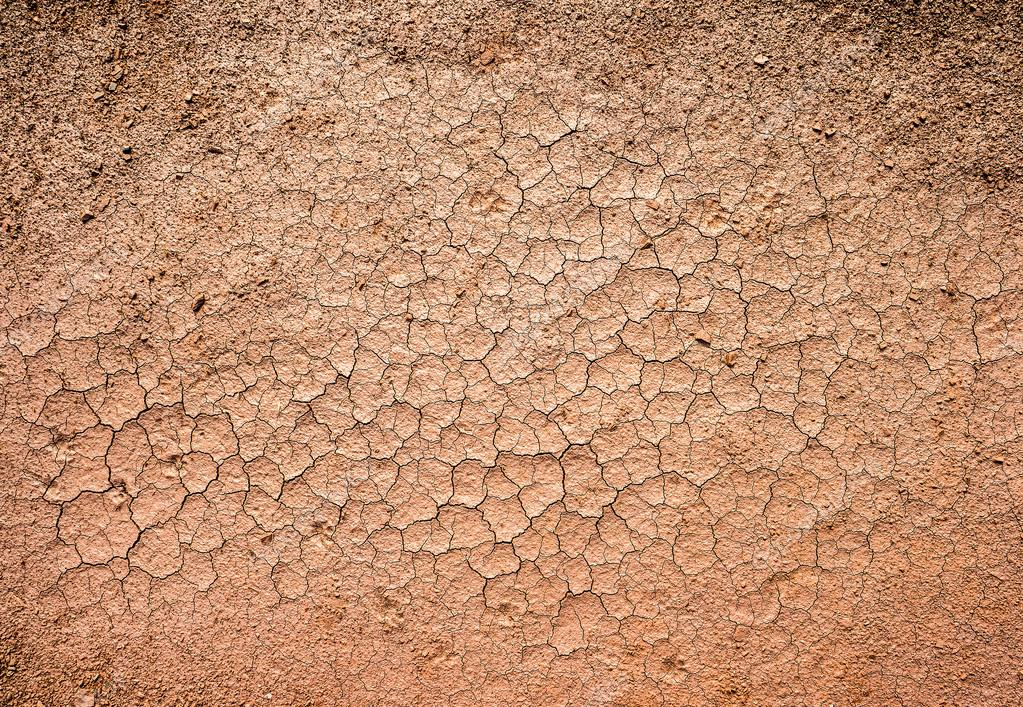 brown dry cracked ground