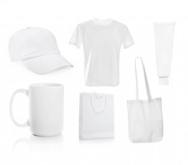 Set ot White blank objects