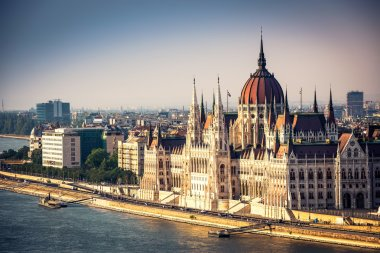 view on Parliament in Budapest
