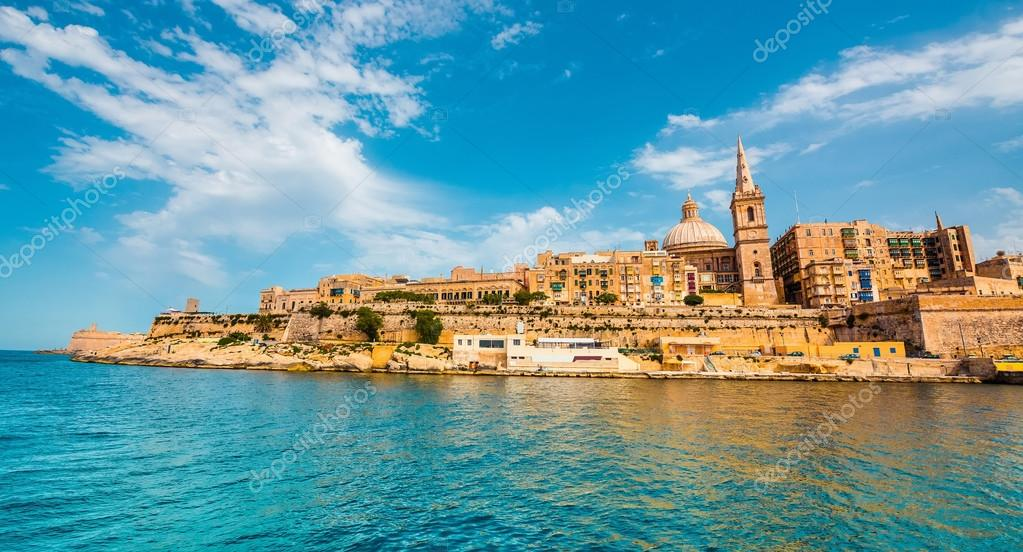 view on Valletta from the sea