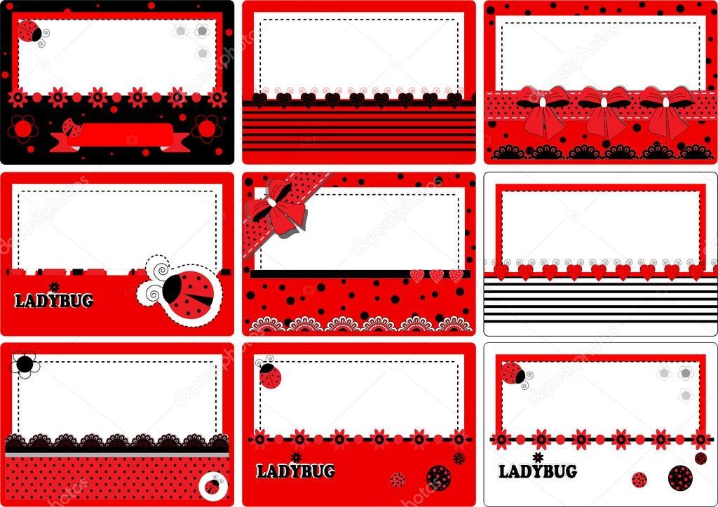 Business Card ladybug — Stock Vector © yaroslavna #55193493