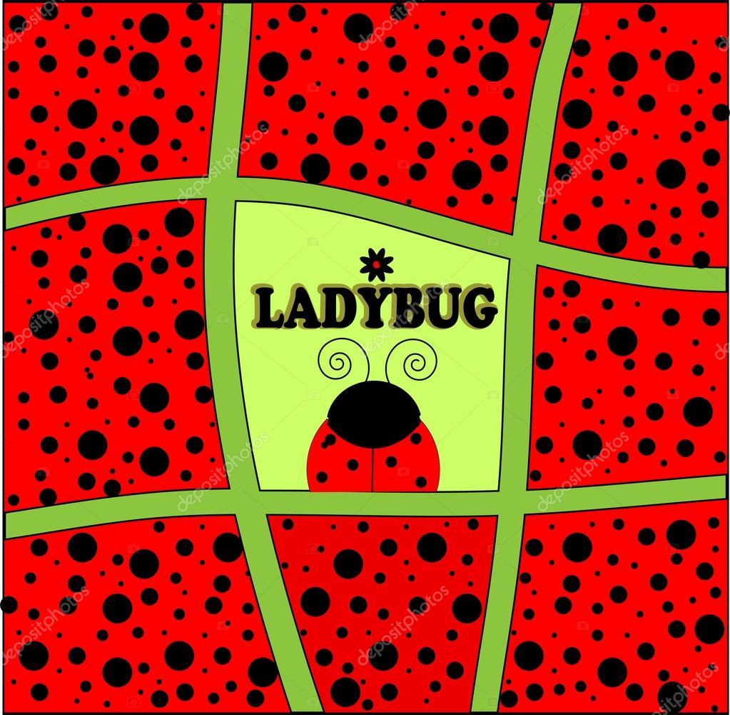 Carto de convite de fundo de joaninha vetor de stock yaroslavna ladybug background invitation card vector illustration art vetor por yaroslavna stopboris Image collections