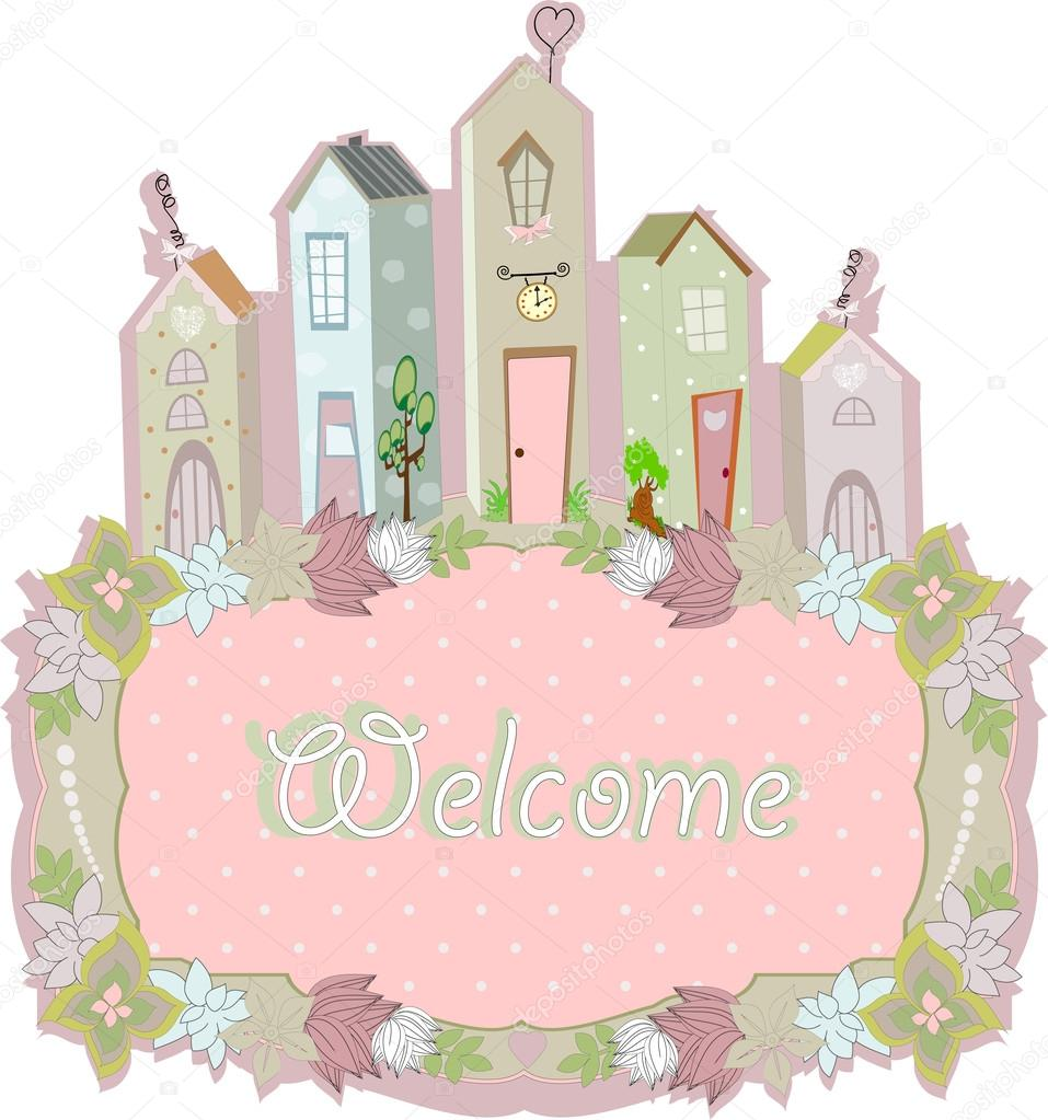 sweet home card design. vector illustration