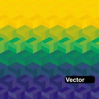 Vector geometric background in Brazil flag