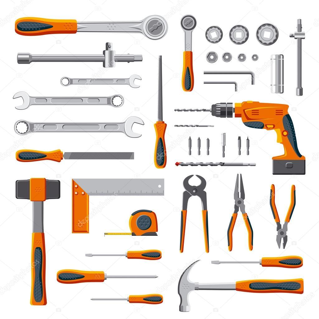 Conjunto de herramientas de bricolaje mec nico moderno - Herramientas para bricolaje ...