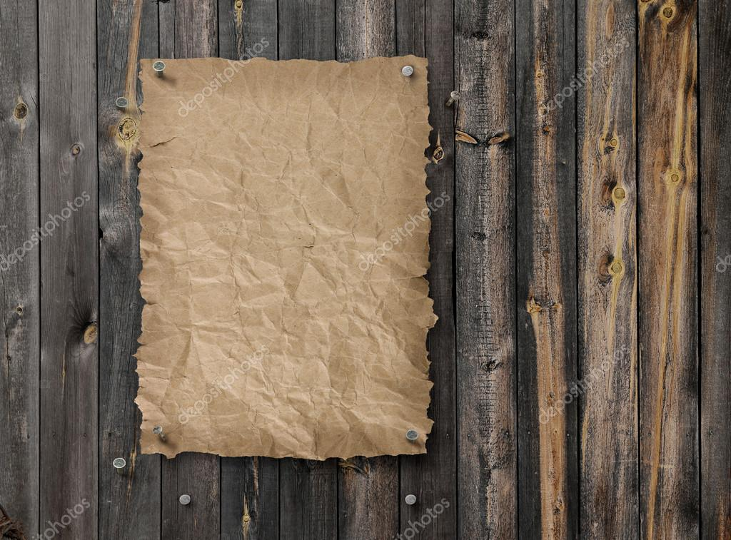 vide affiche wanted sur cloison en bois vieilli planche. Black Bedroom Furniture Sets. Home Design Ideas