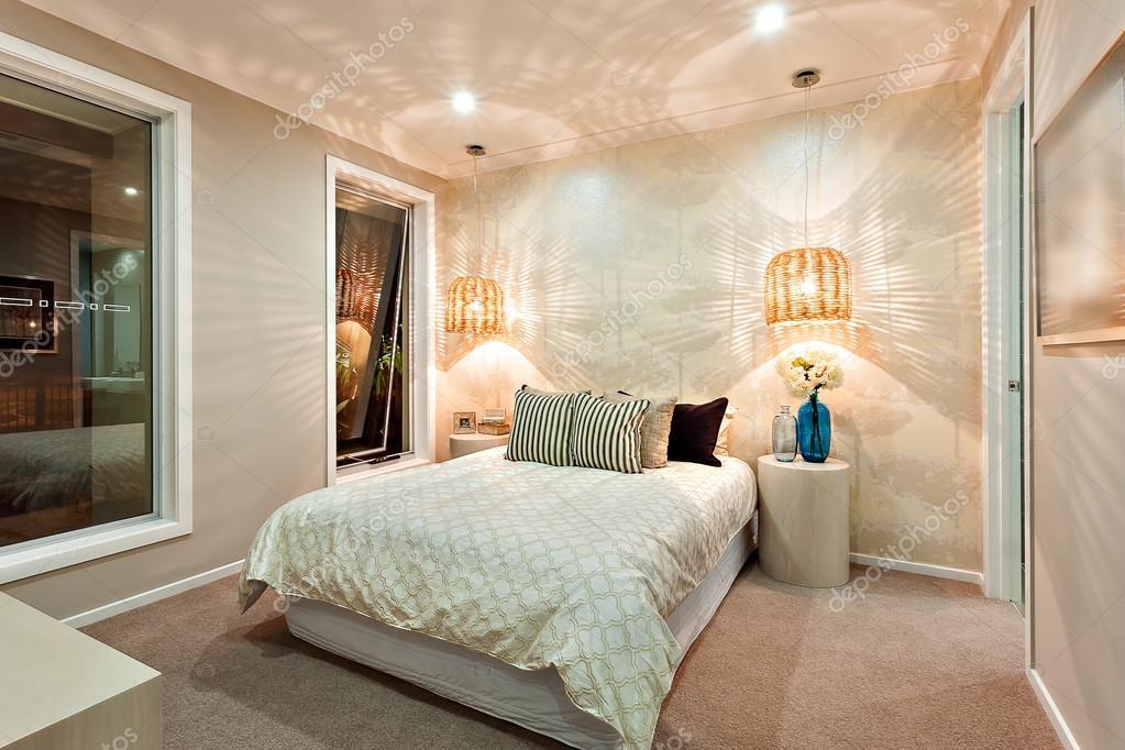 Licht Muster Gezeichnet Die An Der Wand Mit Bambus Lampen In Den
