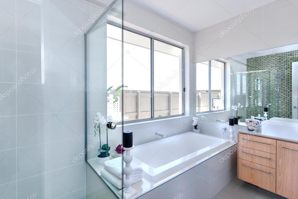Vasca Da Bagno Moderno : Bagno moderno concentrandosi su vasca da bagno in un lussuoso