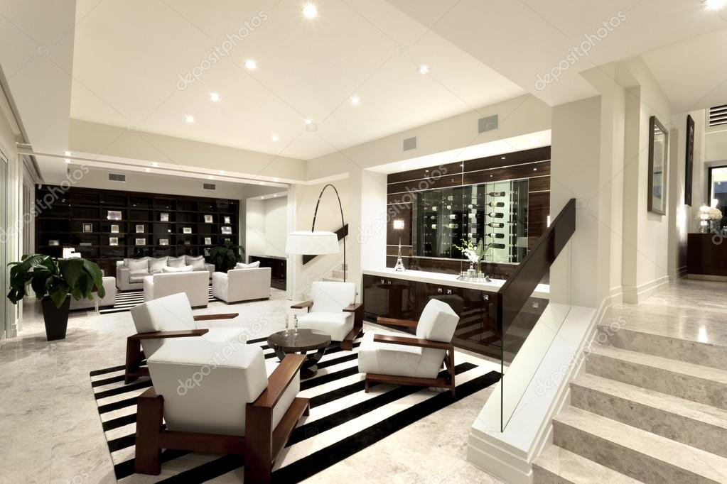 Luxurious livng room with two areas