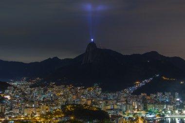 Sunset Panoramic of Rio de Janeiro Christ Redeemer