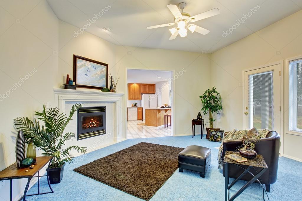 블루 카펫 바닥과 럭셔리 거실 인테리어 — 스톡 사진 © iriana88w ...