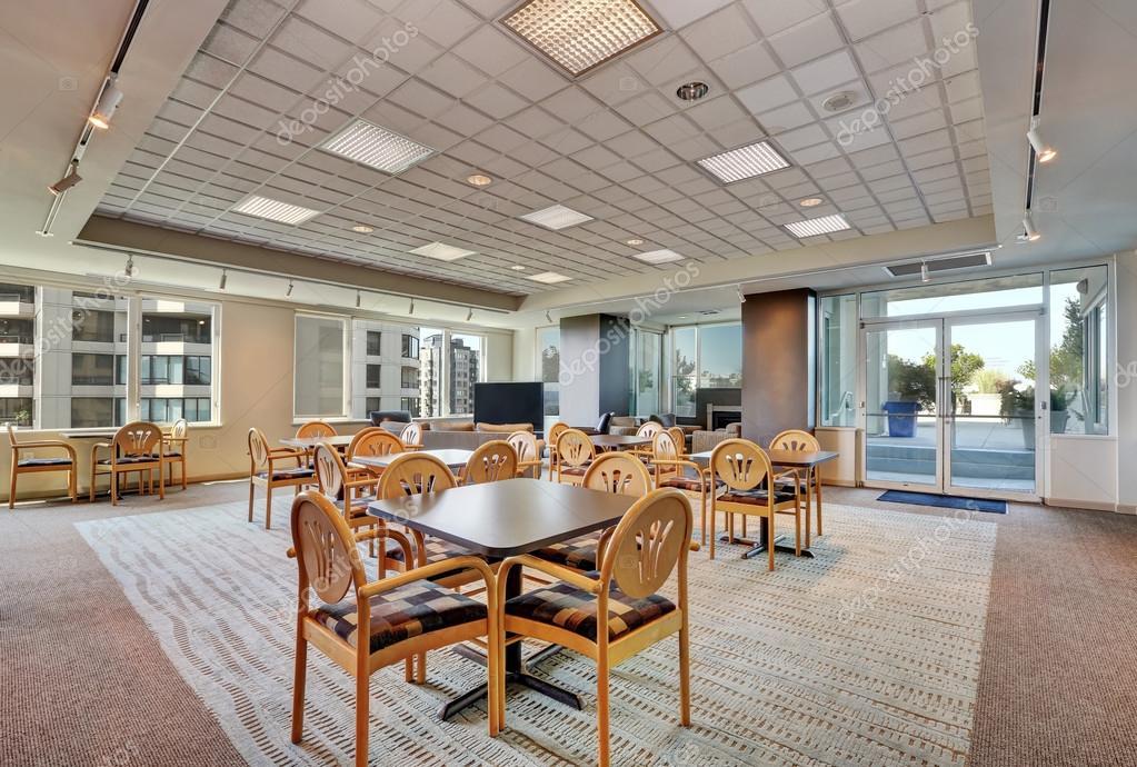 Lounge gemeinschaftsraum mehrfamilienhauses. interior design