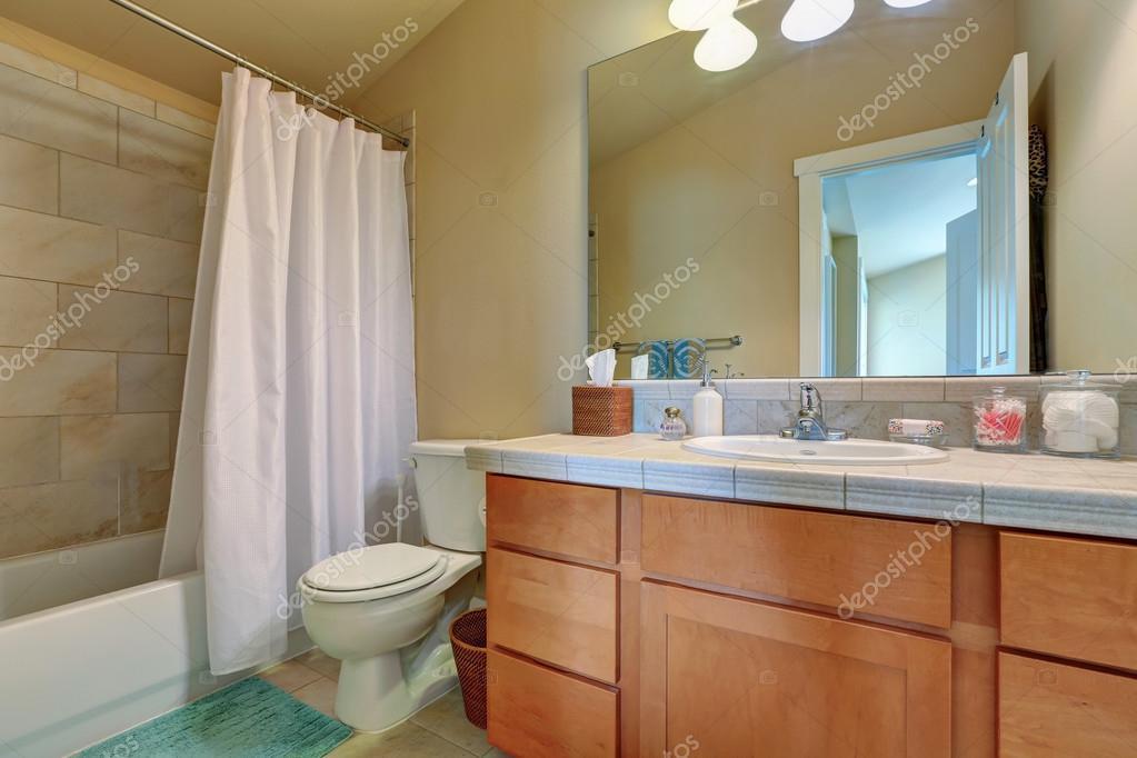 Vanité de salle de bains moderne armoire avec tiroirs et dessus de ...