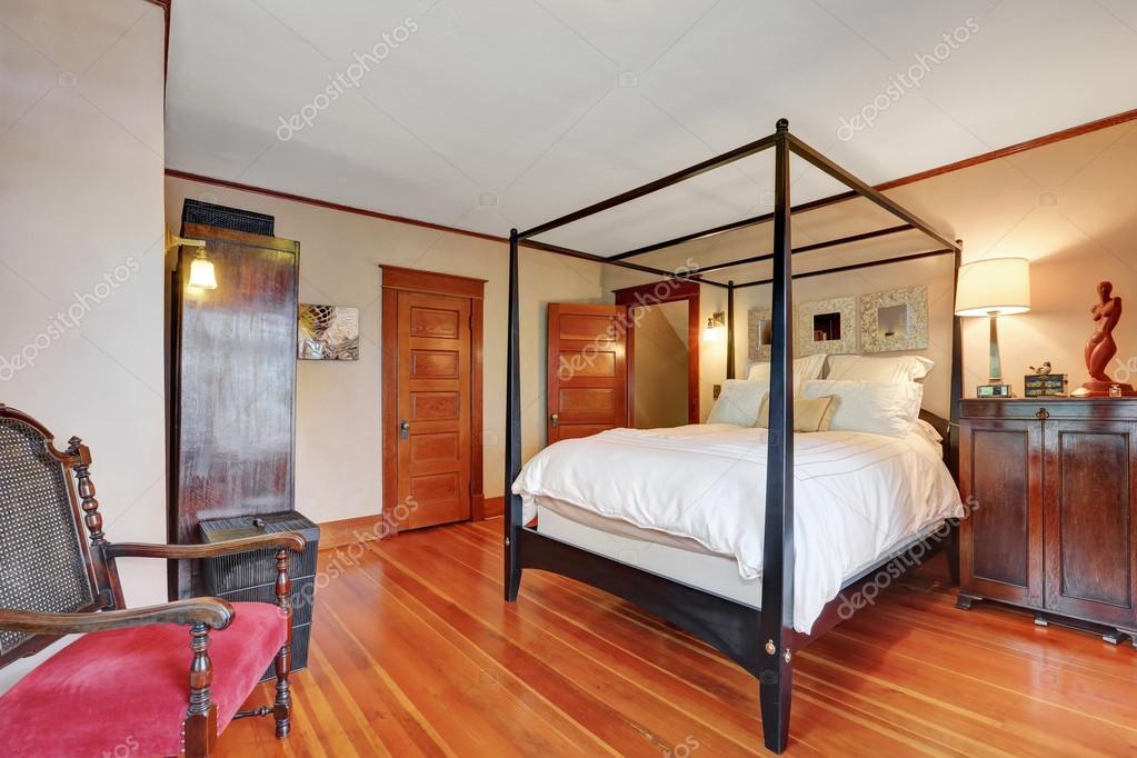 Innere Des Haupt Schlafzimmer Mit Himmelbett U2014 Stockfoto