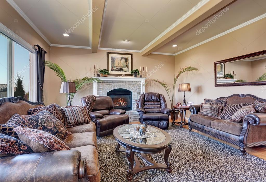 Luxury Living Room With Elegant Vintage Furniture U2014 Stockfoto