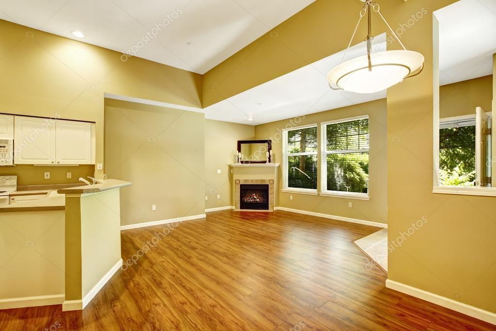wonderful empty apartment living room | appartement vide avec plan d'étage ouvert. salon avec ...