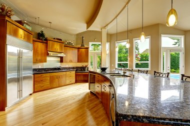 Kitchen interior in luxury house. Real estate in WA