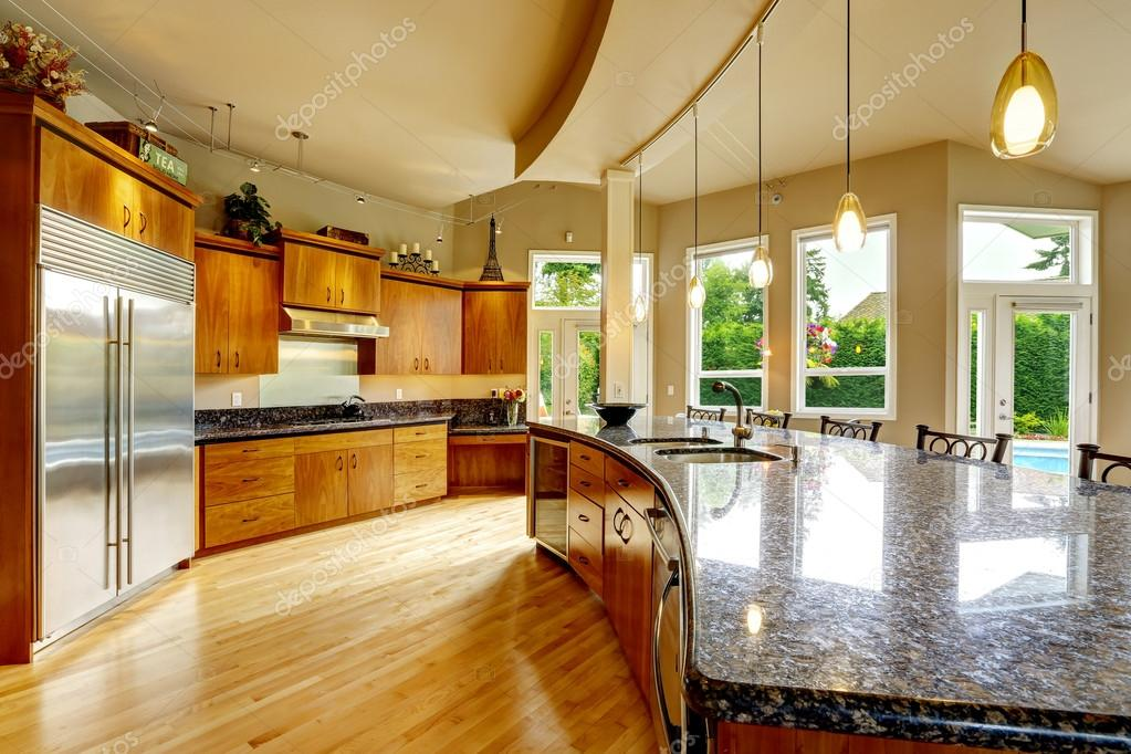 Kitchen Interior In Luxury House. Real Estate In WA U2014 Stock Photo