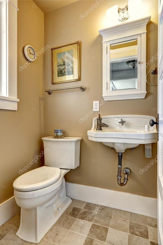 Simple Bathroom Interior In Beige Color Stock Photo Iriana88w 53535323