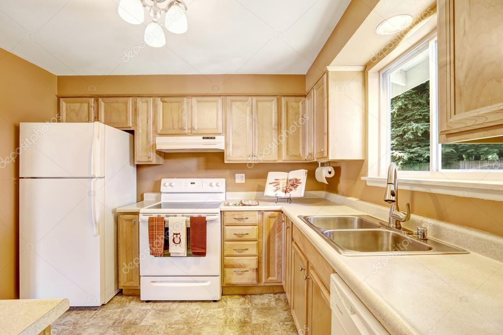 Nuevos gabinetes de cocina con electrodom sticos blancos - Cocinas con electrodomesticos blancos ...