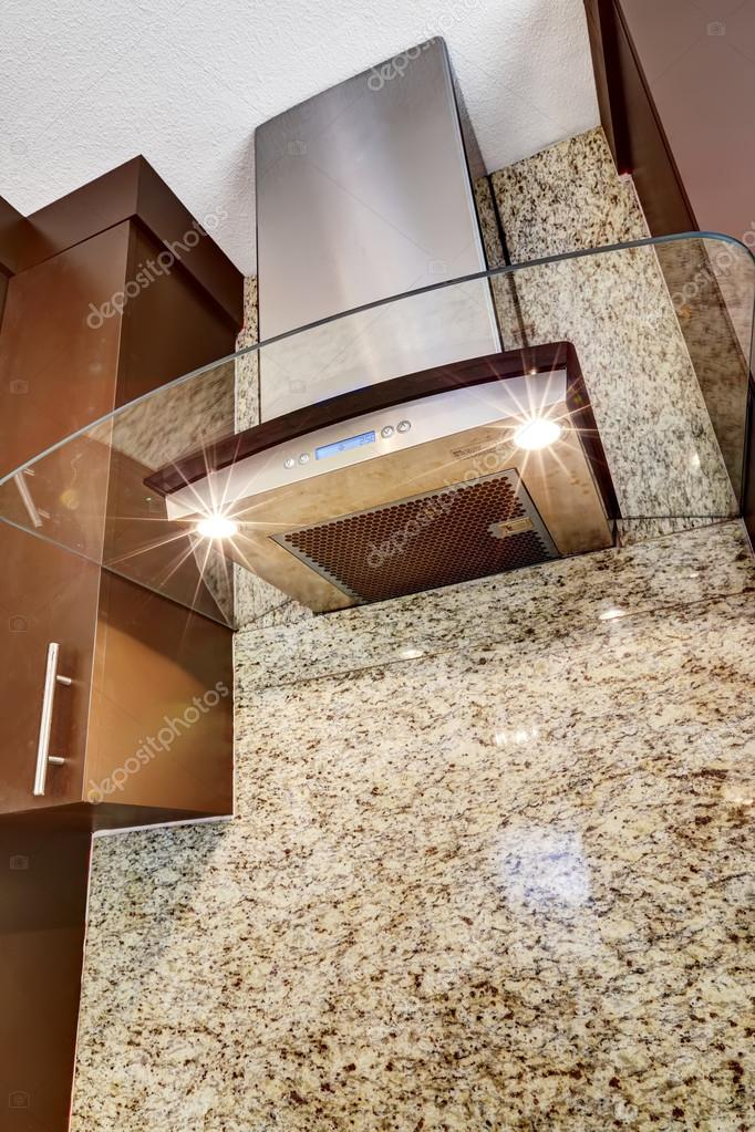 Moderne Edelstahl Haube Mit Glaselement Stockfoto C Iriana88w