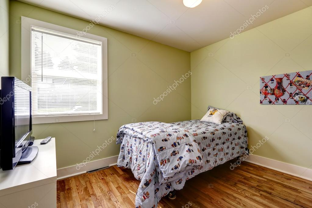 simple bedroom interior with single bed and tv stock photo 54332157 - Simple Bedroom With Single Bed