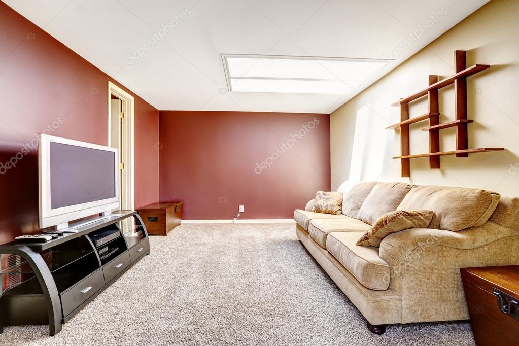 Kleur Muren Woonkamer : Woonkamer met contrast kleur muren u2014 stockfoto © iriana88w #54332615