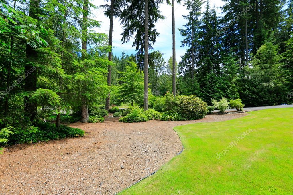 Beautiful Landscape Design Washington State Stock Photo