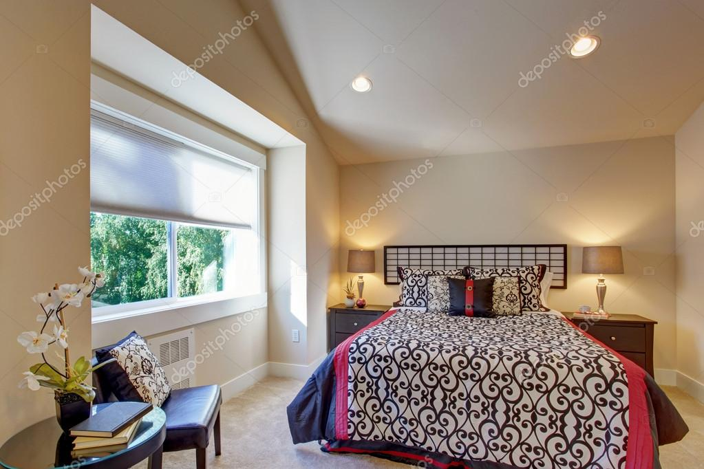 Arredamento camera da letto in stile giapponese — Foto Stock ...