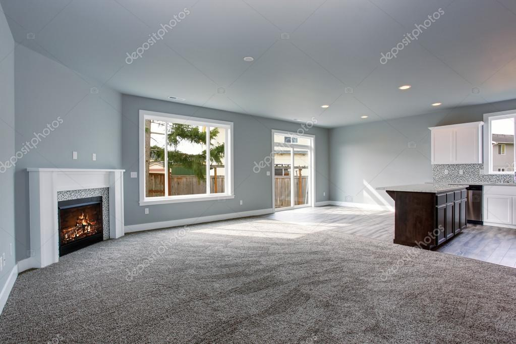 Moderne und komplett grau Interieur — Stockfoto © iriana88w #79732514