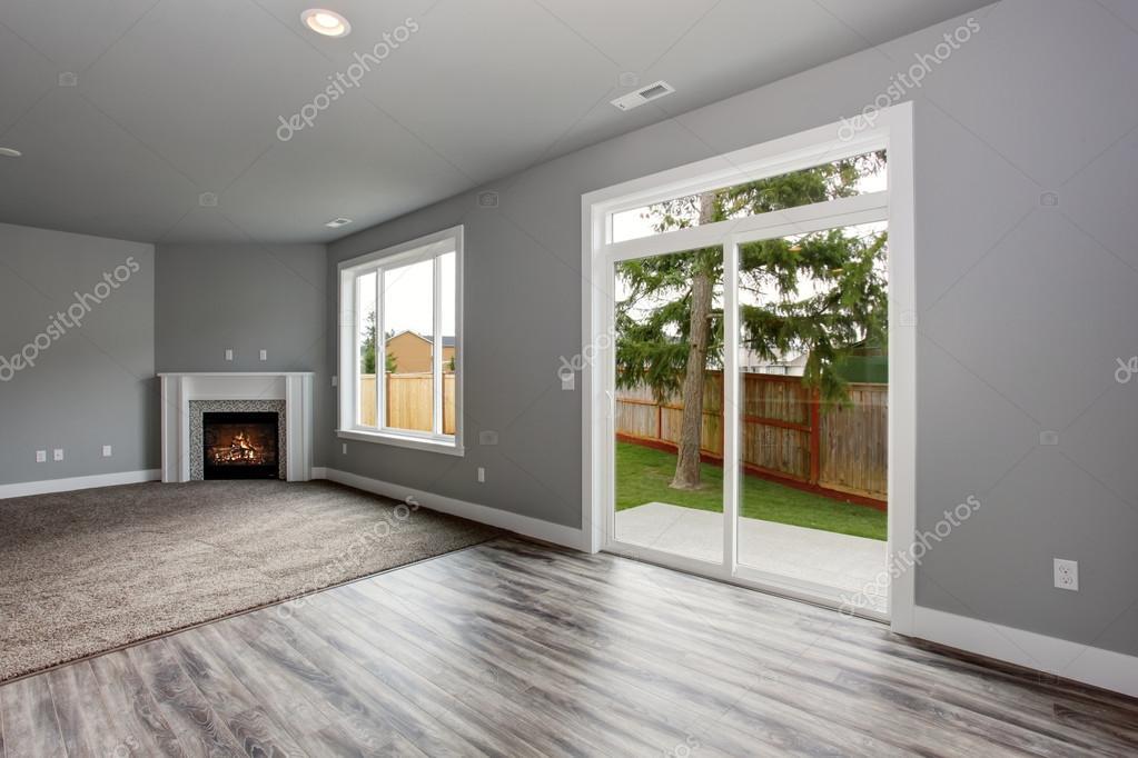 Interni Casa Grigio : Interni moderni e completamente grigio della casa u foto stock
