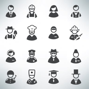 profession icons vector set