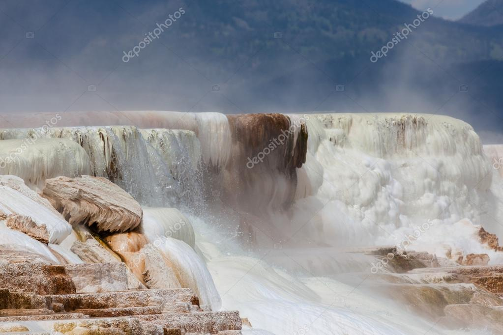 Mammoth Hot Springs Water Falls