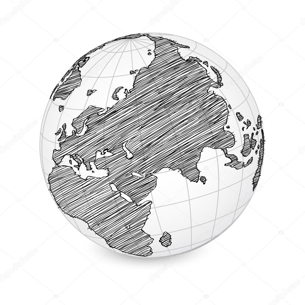 World map earth globe vector line sketched up illustrator eps 10 world map earth globe vector line sketched up illustrator eps 10 stock vector gumiabroncs Images