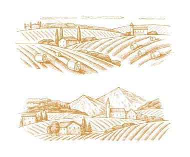village and landscape
