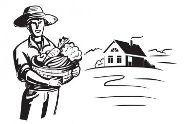 vector black farmer