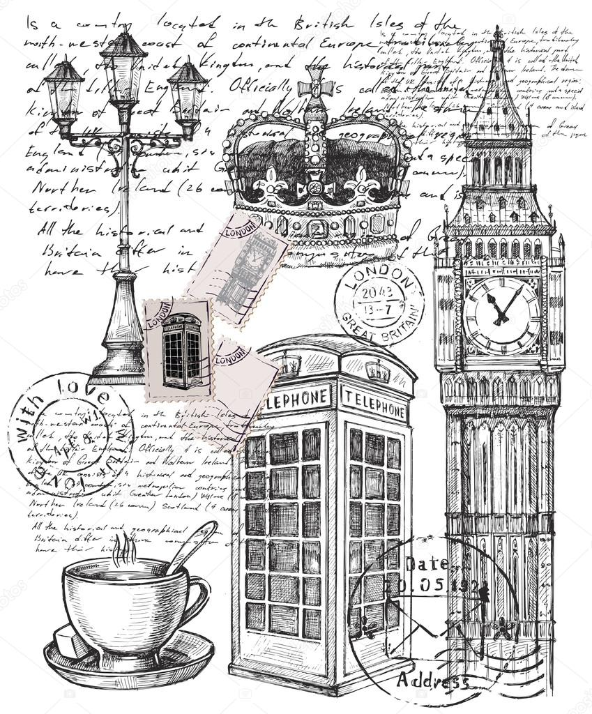 illustration of telephone great britain