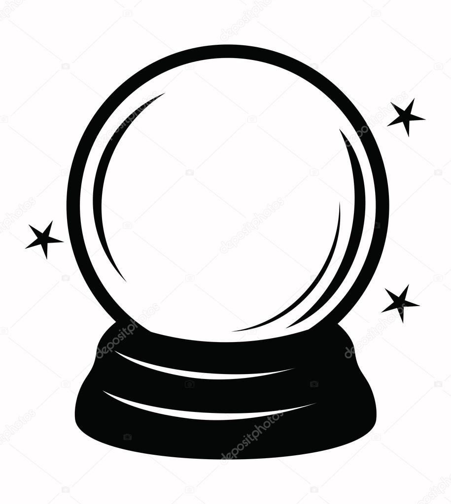 crystal ball stock vector bioraven 57534327 rh depositphotos com witch with crystal ball clip art crystal ball clipart images