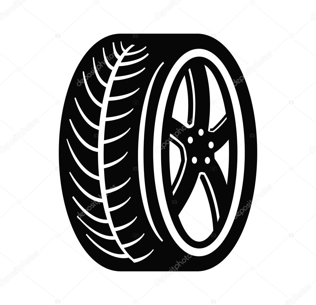 Pneu e roda — Vetor de Stock © bioraven #58488179